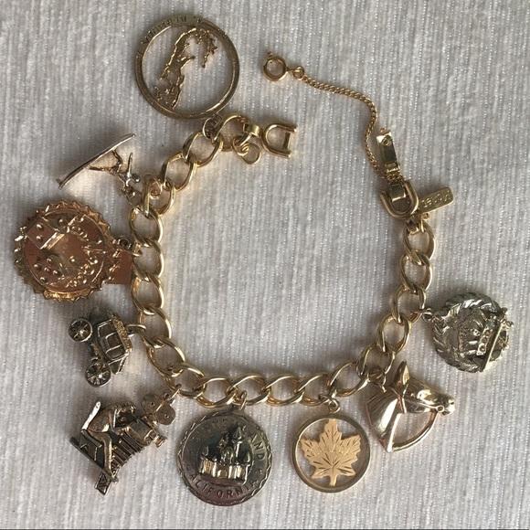 VINTAGE charm bracelet in gold